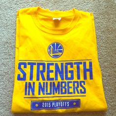 "Selling this ""Golden states warriors nba 2015 playoff t shirt XL"" in my Poshmark closet! My username is: craving4fashion. #shopmycloset #poshmark #fashion #shopping #style #forsale #Tops"