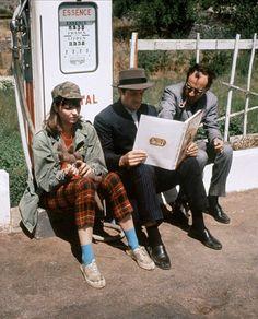 Karina, Belmondo et Godard sur le plateau de Pierrot le fou