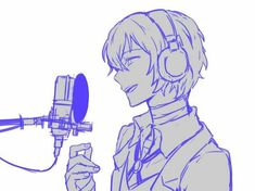 Dazai is singing! Dazai Bungou Stray Dogs, Stray Dogs Anime, Anime Manga, Anime Guys, Anime Art, Singing Drawing, Satsuriku No Tenshi, Dazai Osamu, Dog Wallpaper