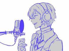 Dazai is singing! Dazai Bungou Stray Dogs, Stray Dogs Anime, Anime Manga, Anime Guys, Anime Art, Singing Drawing, Satsuriku No Tenshi, Dog Wallpaper, Dazai Osamu