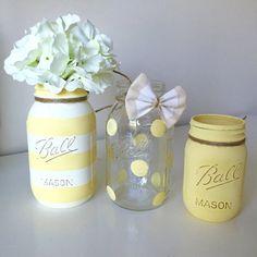 Baby Shower Mason Jar Decor. Baby Boy by LowCountryHomeDecor