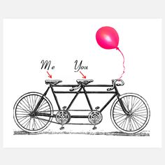 A seat for me, a seat for you. What's more romantic than a ride for two?This special edition Me and Youprint from Rococco-LAsays it all in one sweet, simple drawing.