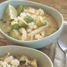 Williams Sonoma Mexican lime soup with chicken and avocado (use a rotisserie chicken to make it even easier)