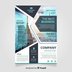 Business brochure template with photo Fr. Company Brochure Design, Company Profile Design, Graphic Design Brochure, Flyer Design, Booklet Design, Web Design, Design Layouts, Banner Design Inspiration, Corporate Flyer