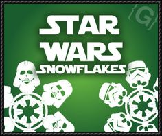 Star Wars Snowflakes Paper Crafts