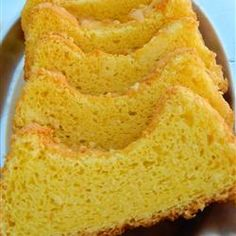 """Yellow Angle Food Cake; I added the following: grated lemon peel from a whole lemon, 2 cups of blueberries dredged in powdered sugar and a teaspoon of vanilla extract. Yummy! Don't forget to spray the pan with """"Pam"""".  I neglected to do this and the cake stuck to the bottom."""