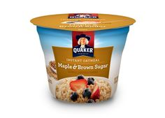 Quaker Instant Oatmeal Express Cups Maple Brown Sugar Breakfast Cereal 169 oz Cups Pack of 12 ** Check this awesome product by going to the link at the image. (This is an affiliate link and I receive a commission for the sales) Quaker Instant Oatmeal, Hot Brown, Hot Cereal, Oatmeal Cups, Breakfast Cereal, Gourmet Recipes, Brown Sugar, Breakfast Recipes, Breakfast Ideas