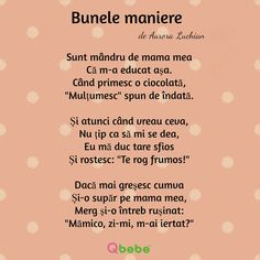 Bunele maniere 1 Preschool Learning Activities, Infant Activities, Educational Activities, Funny School Jokes, School Humor, Kids Poems, Baby Education, Stories For Kids, Christians