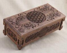 Flor de vida coleccionistas pecho: caja de regalo, hechos a mano, modificado para requisitos particulares