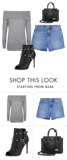 """Untitled #262"" by alija-i ❤ liked on Polyvore featuring Jaeger, M.i.h Jeans, Valentino and MCM"