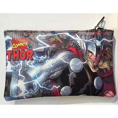 64e274f0387a Marvel Comics Thor Purse Leather Pen Pencil Bags Rectangle Zipper Money Bag  Boy Girl Anime Cartoon Stationery Pouch Wallets - ShopShopShip