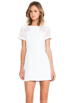Minty Meets Munt Rosa Dress in White