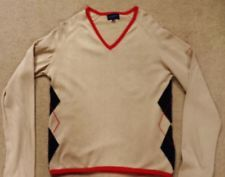 Burberry Golf Jumper Ladies Women's Top Size M  UK 10 Sand Red