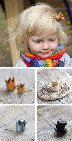 Princess hair pins. Super cute hair bows for when the little one finally grows hair.