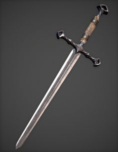 Fantasy Sword, Fantasy Weapons, Fantasy Rpg, Armor Concept, Weapon Concept Art, Kunai Knife, Theatrical Scenery, Medieval Horse, Steampunk Weapons