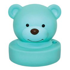 Baby and Kids gifts online - Goodnight Bear Night Light - Aqua - Was $ 16.95  Now $14.95 - Adorable and super sweet aqua bear night light!  No messy cords required as this cute night light is battery operated, creating a soft and comforting glow at the press of a button.  Makes a gorgeous addition to any childs room and a beautiful baby gift idea!  Requires 3 x AA batteries (not included).  Size: Approximately 21cm. Baby and Kids gifts online - Goodnight Bear