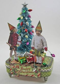 Altered Christmas Gift Tin with Tutorial - OCCASIONS AND HOLIDAYS