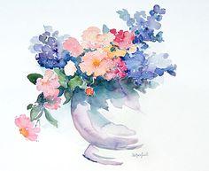 Watercolor flowers by Elvio Angeletti