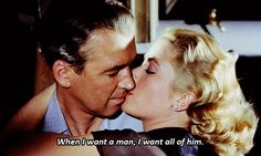 Jimmy Stewart and Grace Kelly in Rear Window | 23 Classic Hollywood GIFs That Are Better Than A Time Machine