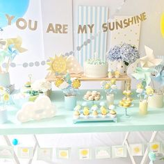 Birthday brunch party theme baby shower Ideas for 2019 Rainbow First Birthday, Sunshine Birthday Parties, Birthday Brunch, Boy Birthday Parties, Brunch Party, Baby Party, Baby Shower Parties, Baby Shower Themes, Baby Boy Shower