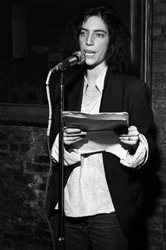 Circa 1975  at a poetry reading