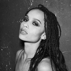 """Zoë Kravitz (@zoeisabellakravitz) Instagram: """"Smoky is the vïbë • THE SHOCK MASCARA • Good looks without the smudge @yslbeauty"""""""
