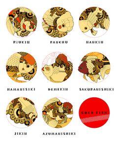き ん ぎ ょ ! … Koi Art, Fish Art, Betta Fish Types, Golden Fish, Paper Artwork, Doodle Patterns, Fish Design, Japan Art, Tattoo Studio