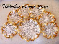 Trabalhos da vovó Sônia: Porta-copos (descanso para copos) flor da terra - ...
