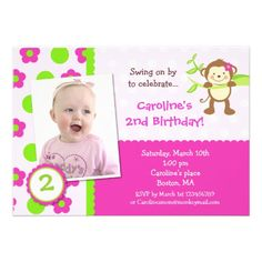 Nice Free Printable Monkey Birthday Invitations  Download this invitation for FREE at https://www.drevio.com/free-printable-monkey-birthday-invitations/