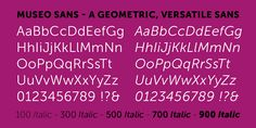 Check out the Museo Sans font at Fontspring. This neutral typeface includes 11 OpenType features including Lining Figures and Standard Ligatures making this font a great value.