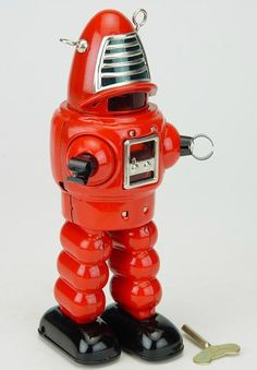 Chucklesnort has fab wind up toys and traditional toys for every kid, no matter what their age. Love this Lost In Space type robot wind up.