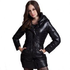 Women's Slim fit Hooded Down Jacket