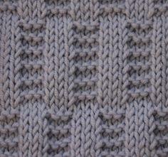 Узор: прямоугольники из лицевых и изнаночных петель