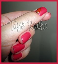 . #nails #nailpolish #red #beauty #fashion #ladybug
