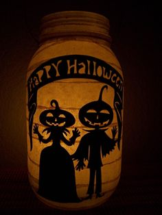 Primitive Halloween Lantern. These would be so cute on tables at a Halloween wedding reception!