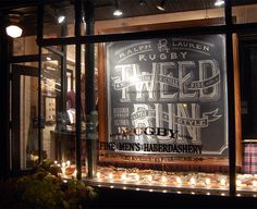 Such a cool use of chalk art for a window display!