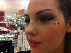 Experimenting with a futuristic look: http://shmuelhoffmansblog.com/2012/09/29/the-ark-report-makeup-hair-for-katy-castaldi/#