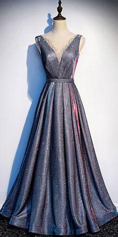 Glamorous Tulle & Sequin Fabric Jewel Neckline Floor-length A-line Evening Dresses With Belt & Beadings A Line Evening Dress, Evening Dresses, Formal Dresses, Sequin Fabric, Occasion Dresses, Homecoming, Tulle, Sequins, Neckline