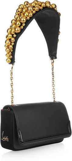 CHRISTIAN LOUBOUTIN Artemis Bell-embellished Shoulder Bag   dressmesweetiedarling