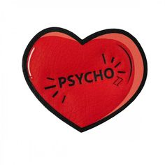 Psycho Heart Sticker ❤ liked on Polyvore featuring backgrounds, filler, hearts and red