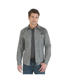 8cf71d506e Rock By Wrangler® Long Sleeve Western Shirt