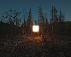 Benoit Paillé - Alternative Landscapes - A cube of light set in a natural landscape