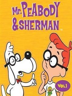 "Peabody & Sherman"" (on the Rocky & Bullwinkle show) Classic Cartoon Characters, Favorite Cartoon Character, Classic Cartoons, Old Tv Shows, Kids Shows, Mr Peabody & Sherman, Old School Cartoons, 1970s Cartoons, Saturday Morning Cartoons"