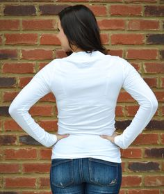 Active Basic White Long Sleeve Top