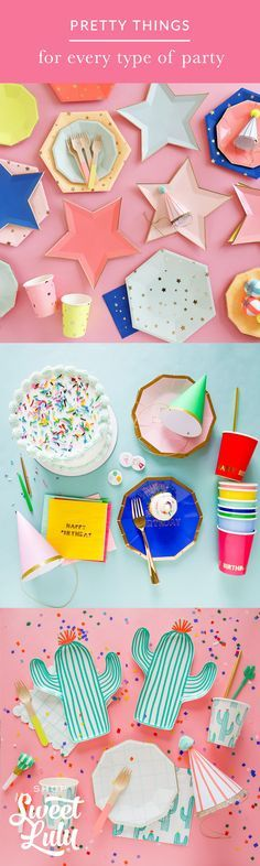 Shop for pretty party supplies now!