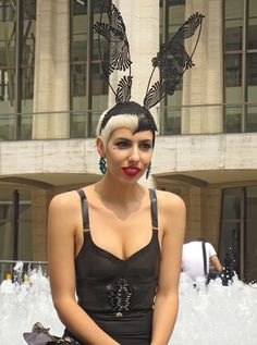 2c6a8c544d159 at and September 2013 at Lincoln Center. I love her bunny ears by Philomena  Kwok. Nyc ...