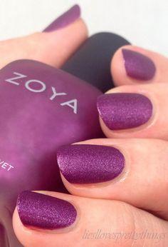Zoya Harlow, Matte Velvet collection #zoyanailpolish
