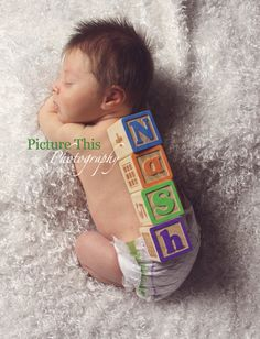Maybe beside the baby? Idk about laying the blocks on them. Newborn Pictures, Baby Pictures, Baby Photos, Cute Names, Baby Names, Becoming Mom, Fun Baby Announcement, Baby Bug, First Baby