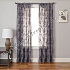 Fortuna Chevron Linen Sheer Curtain Panel In Platinum Gray / White Color |  BestWindowTreatments.com : Modern Contemporary Style : Extra Long Availu2026
