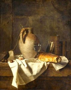 """Henri Horace Roland Delaporte (1724 - 23 nov. 1793) """"Apprêt d'un déjeuner rustique"""""""